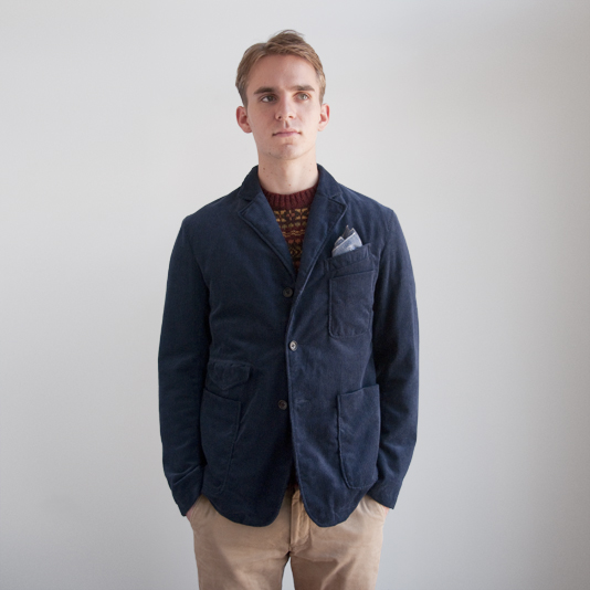 engineered garments truman jacket howlin' by morrison fair isle crew neck wool knit sweater
