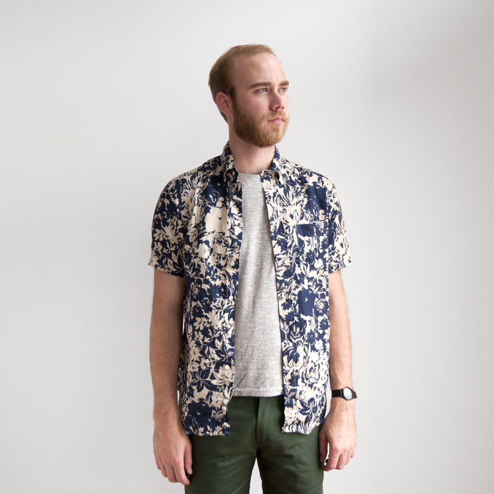 the hill side pitman brothers vintage collaboration floral shirt