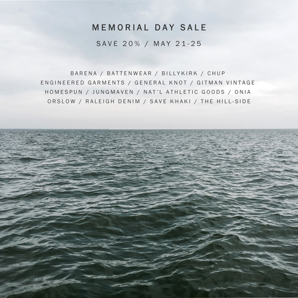 Memorial Day Sale