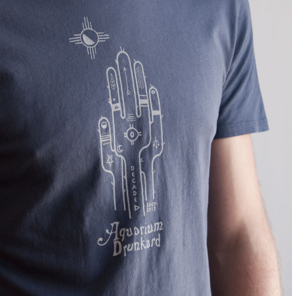 Aquarium Drunkard Decade Tee in Navy