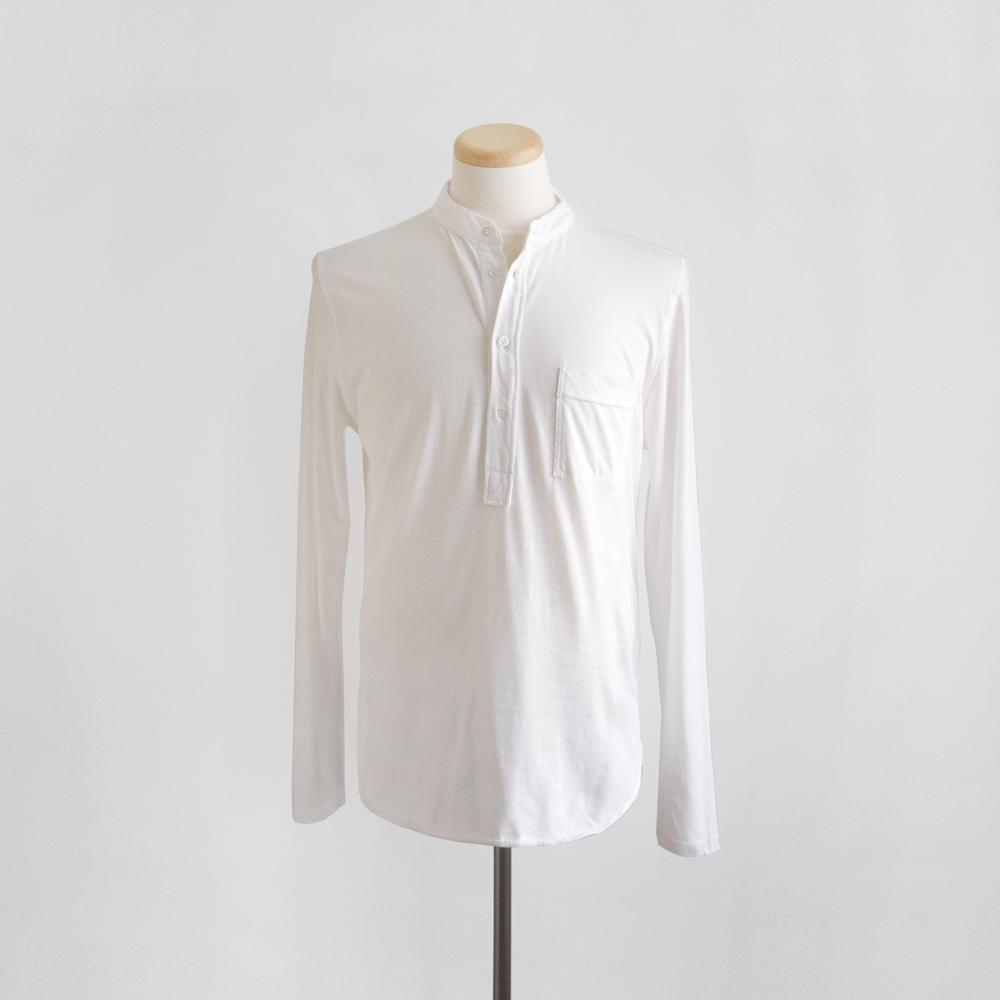 Barena Nalin Jersey Henley in Bianco