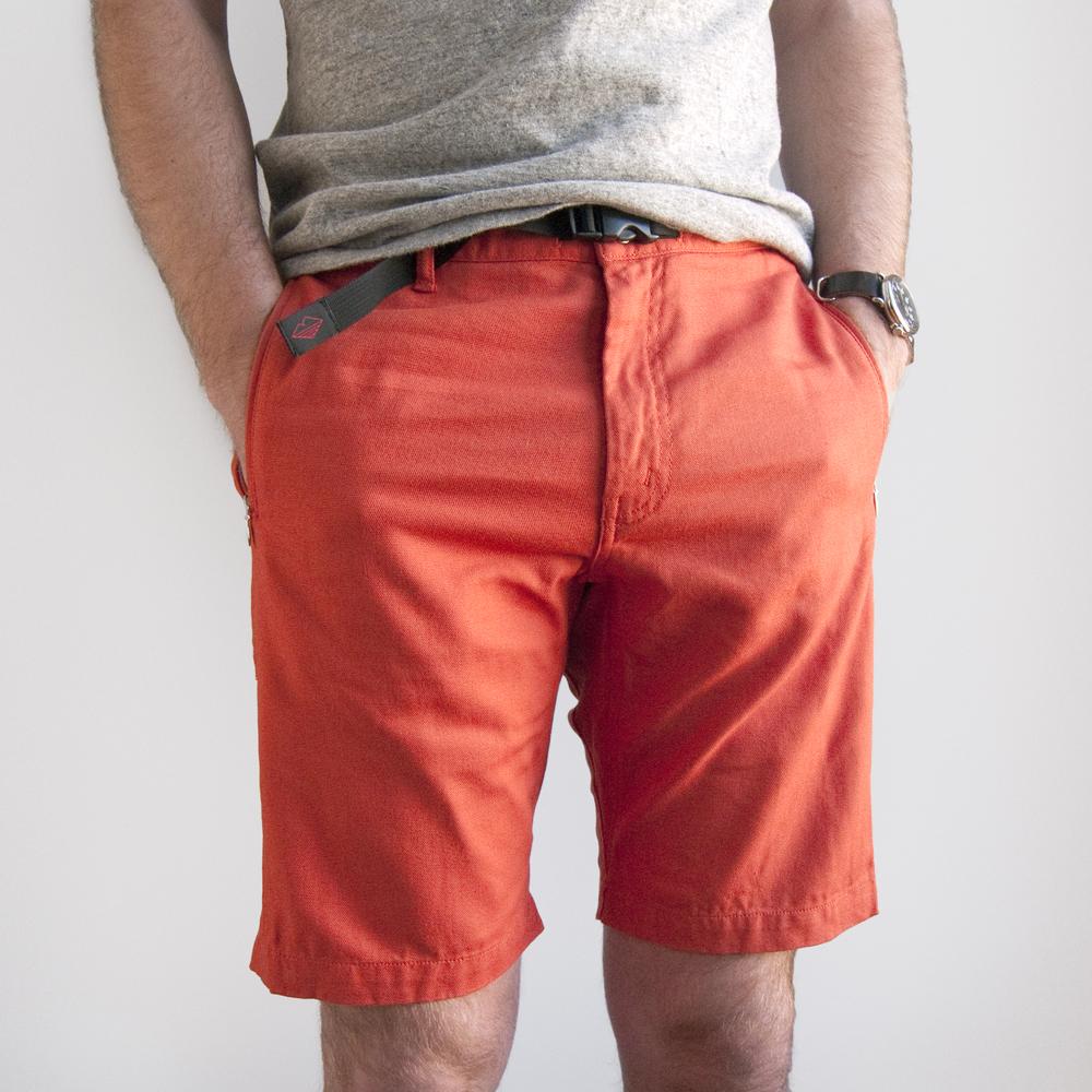 batten wear spring summer 2014 overhang shorts orange