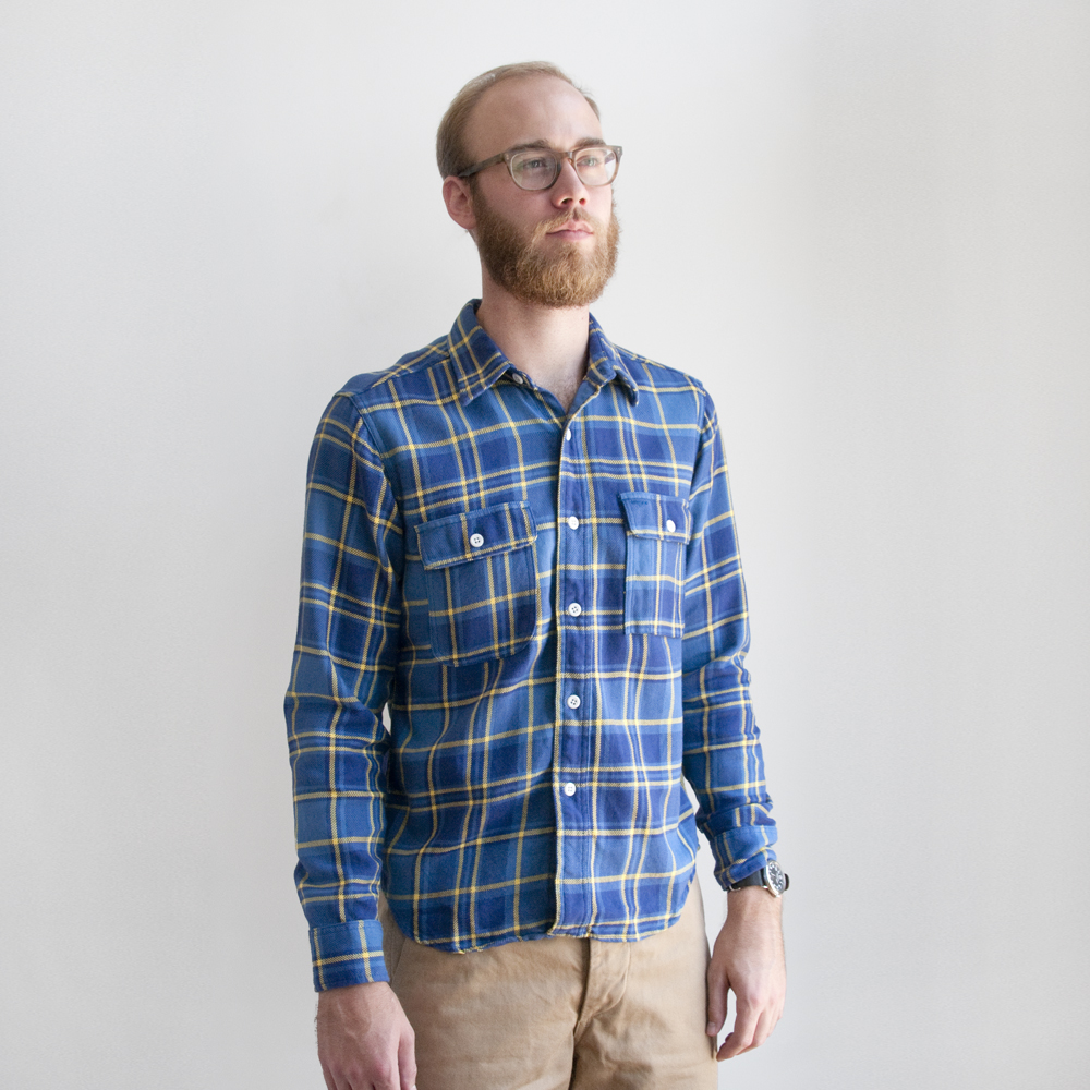 Battenwear Work Shirt Blue Plaid