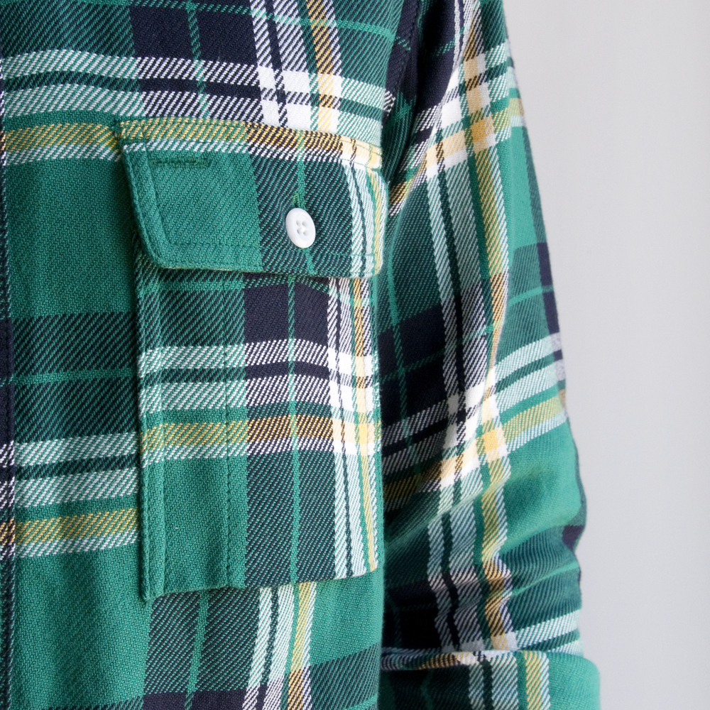 Battenwear Work Shirt Green Plaid