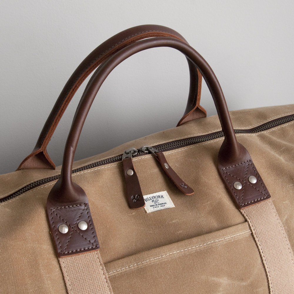 Billykirk Duffle Bag in Tan Wax Brown Leather