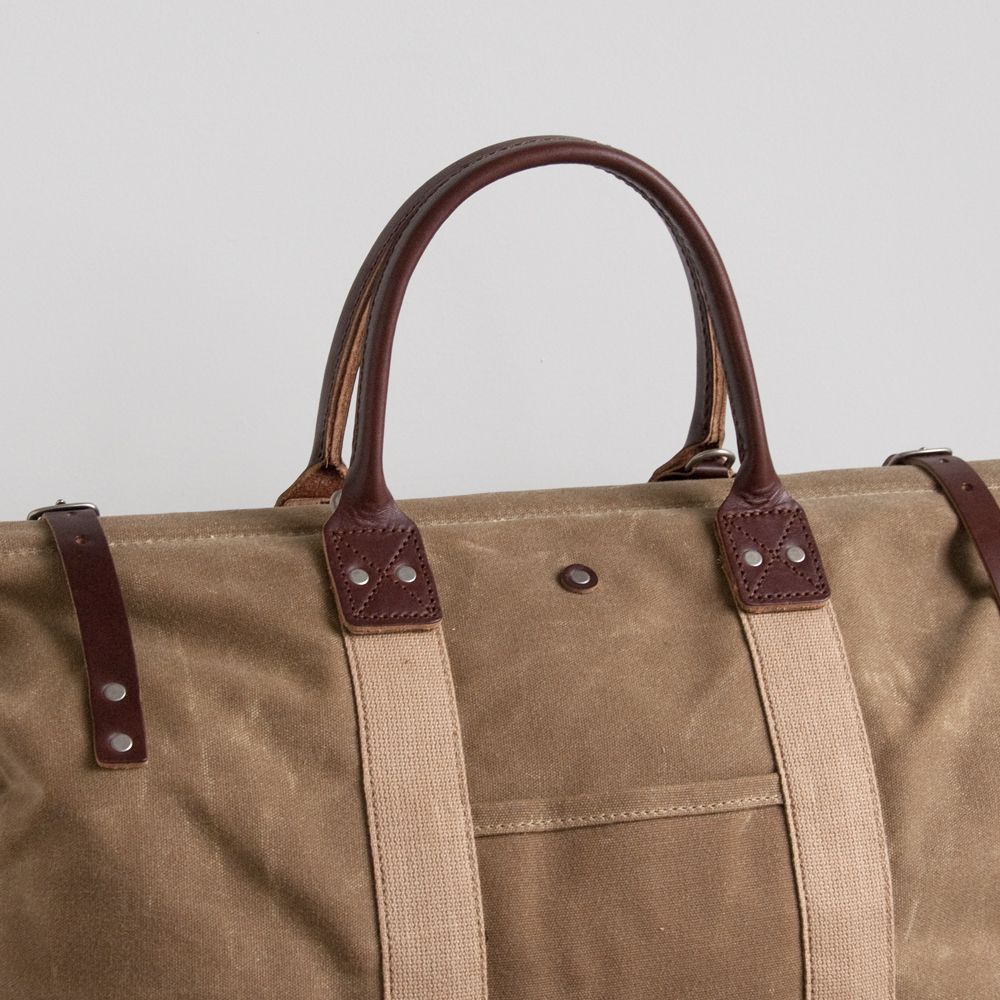 Billykirk Mason Bag in Limited Tan Wax Brown Leather