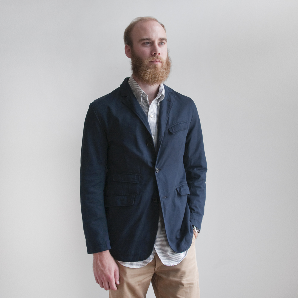 Engineered Garments Andover Jacket in 8.5oz Chino Twill Navy