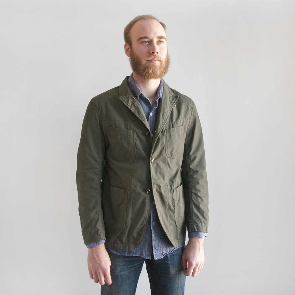 Engineered Garments Bedford Jacket in Cotton Ripstop Olive