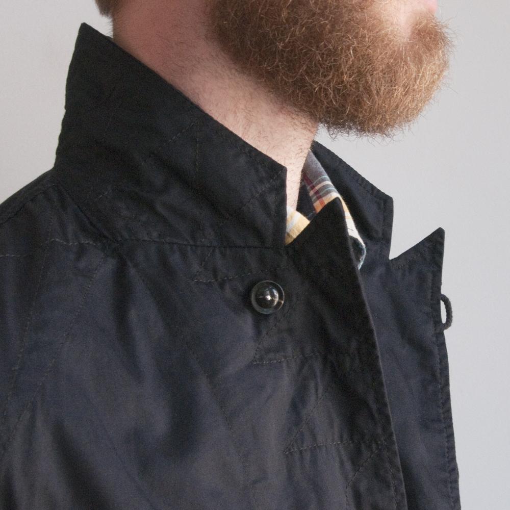 Engineered Garments Bedford Jacket in High Count Twill Dark Navy