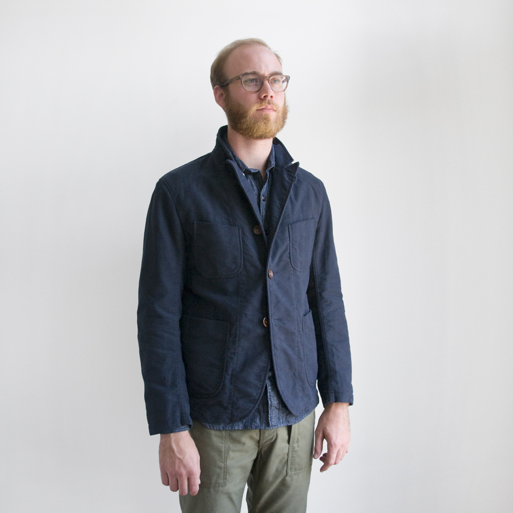 Engineered Garments Bedford Jacket Navy Moleskin