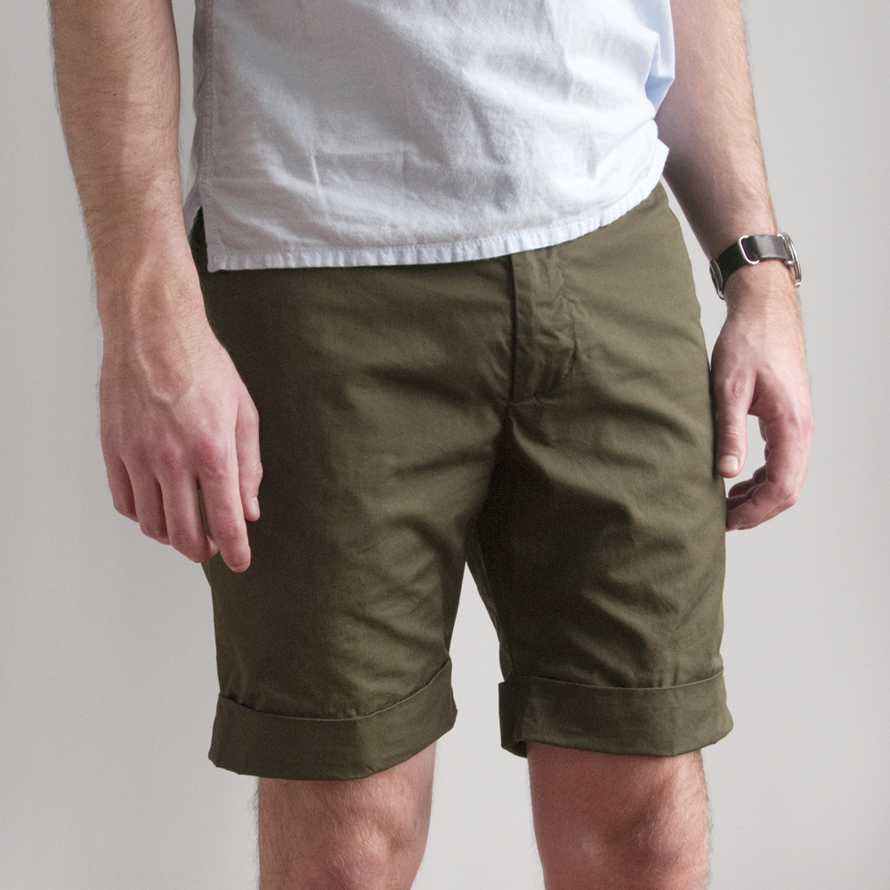 Engineered Garments Cambridge Short in High Count Twill Olive