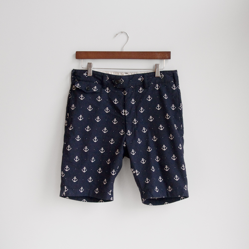 engineered garments spring summer 2013 Cambridge Short in Navy Anchor Printed Oxford