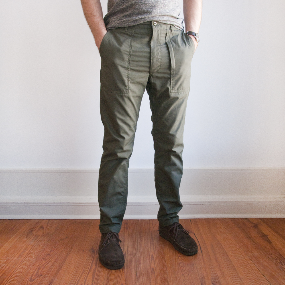 Engineered Garments Fatigue Pant in Cotton Ripstop Olive