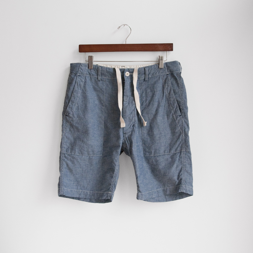 engineered garments spring summer 2013 Fatigue Short in Blue Chambray