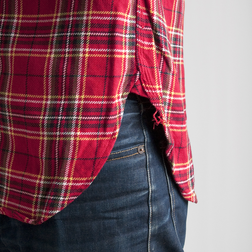 Engineered Garments Work Shirt Red Yellow Heavy Twill Plaid