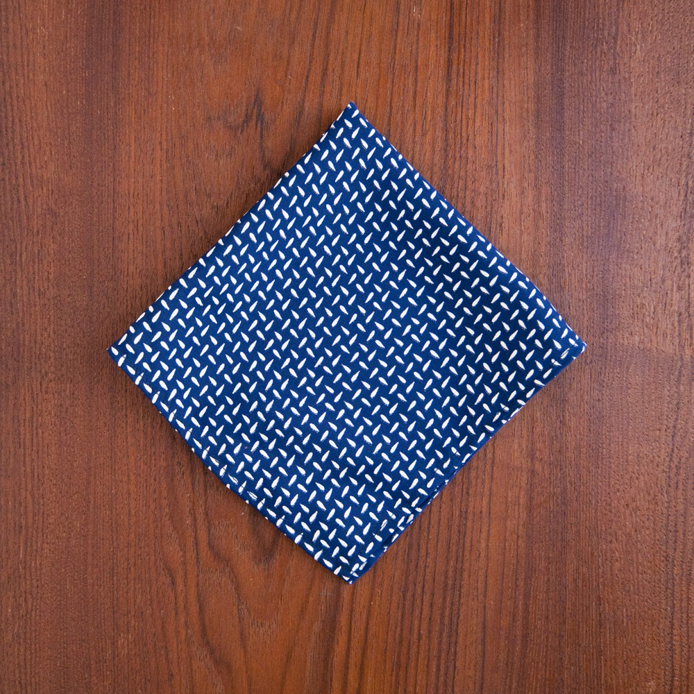 General Knot & Co. Pocket Square 1940s Rice Print