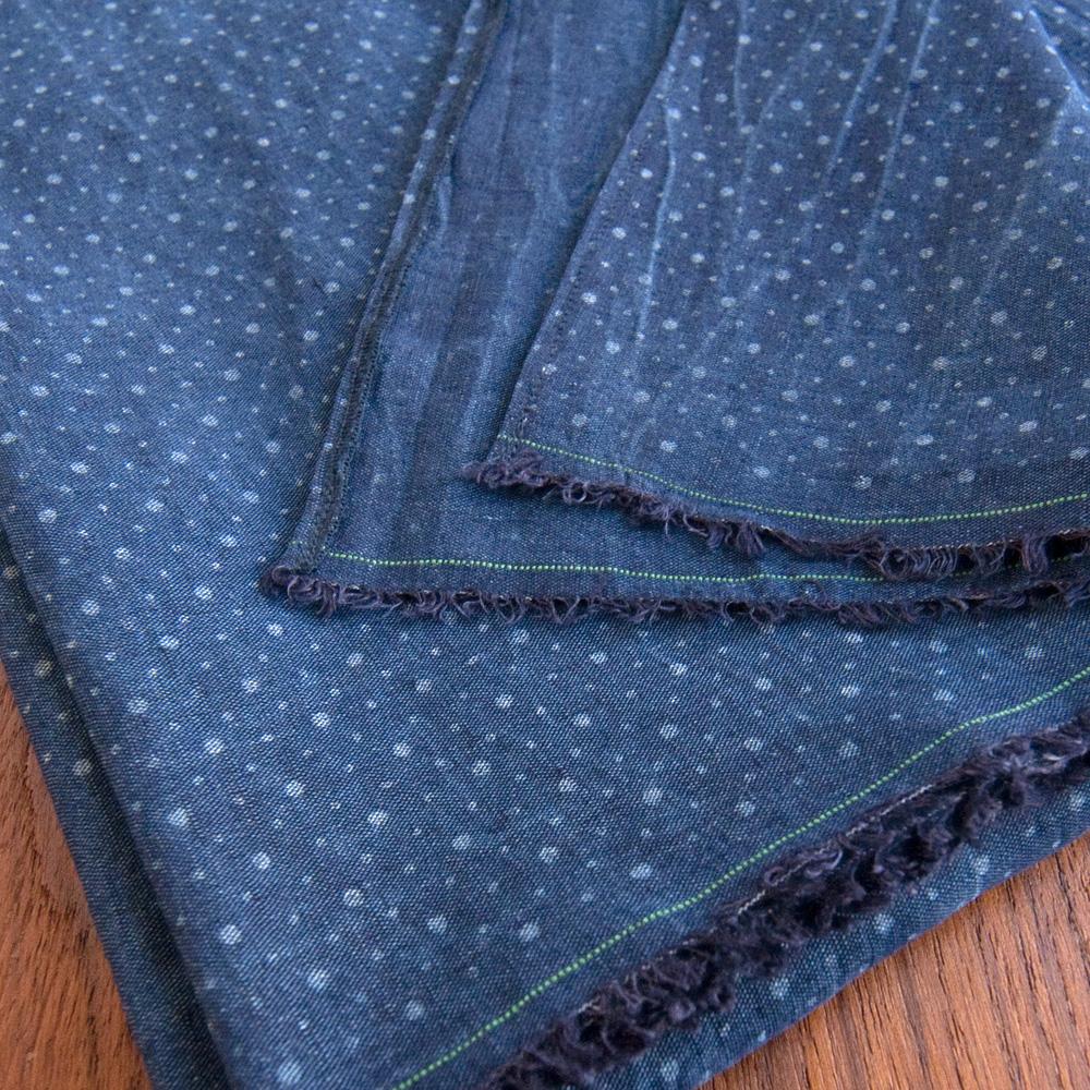 general knot and co scarf selvedge linen indigo slub