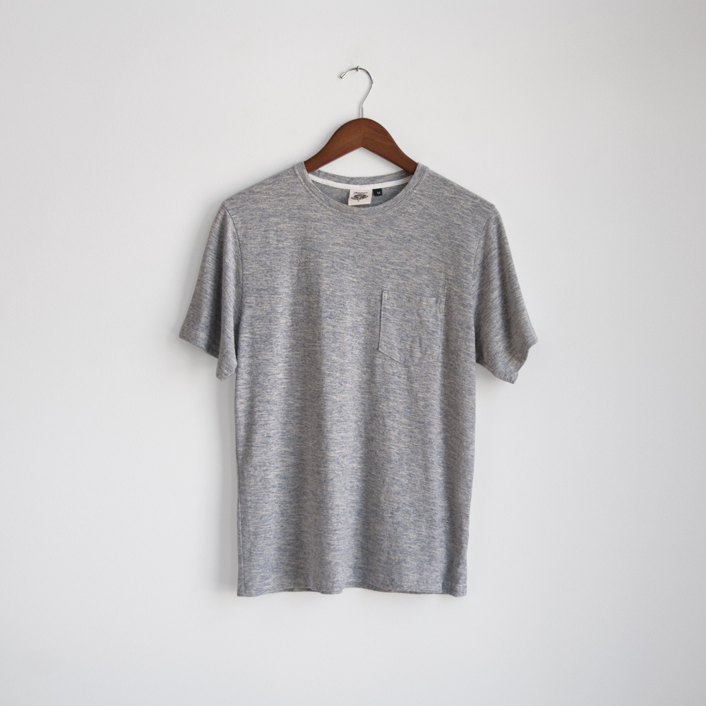 jungmaven pocket tee shirt yarn dyed grey
