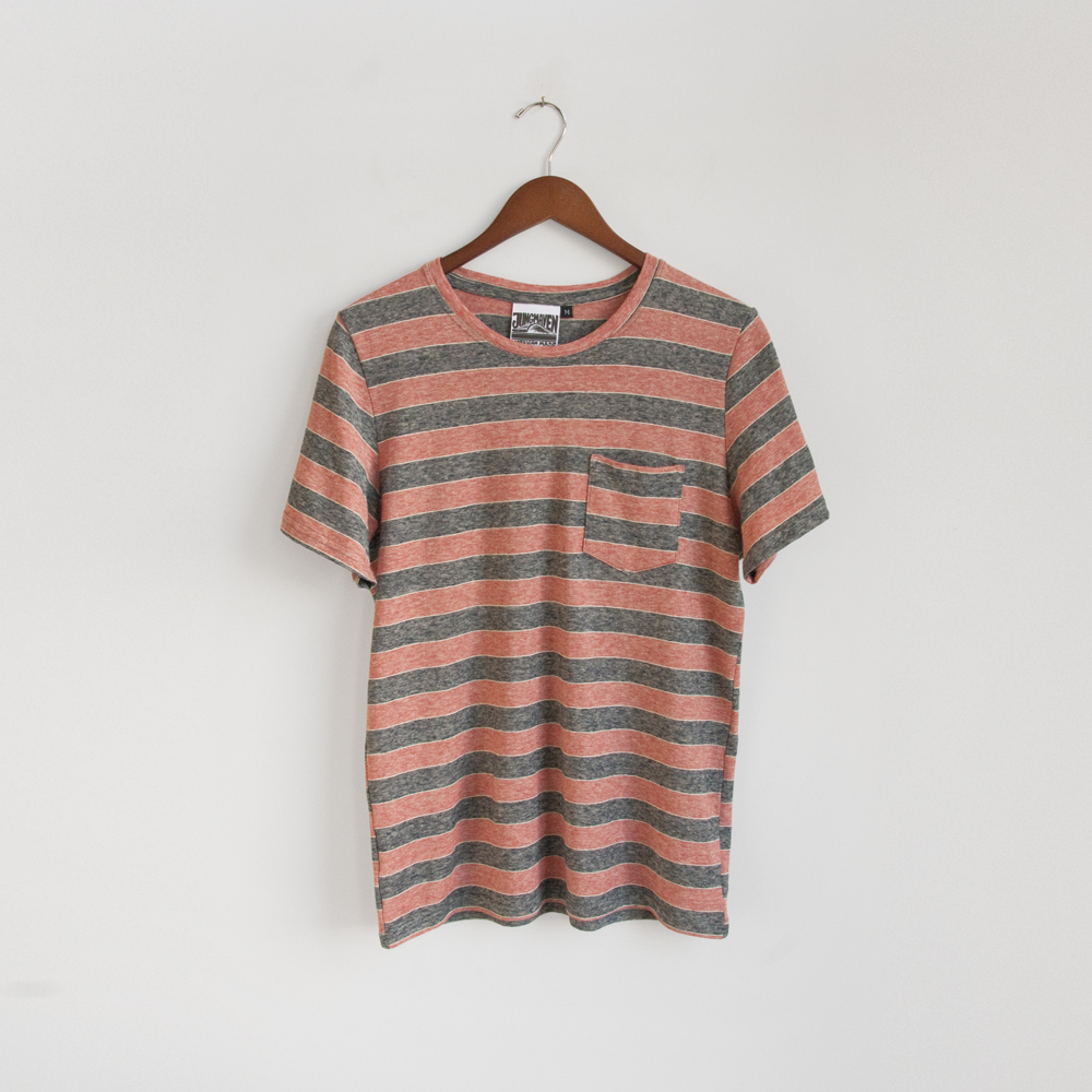 Jungmaven Yarn Dyed Pocket Tee in Toas Red