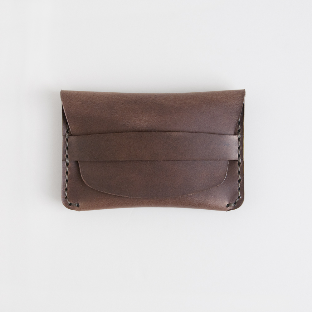 Makr Carry Goods Flap Slim Wallet in Bark CXL