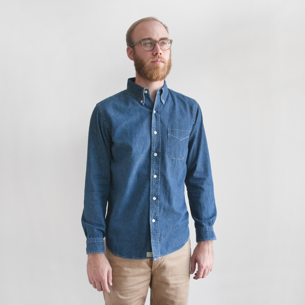 orslow denim button down army trousers japan selvedge (6)