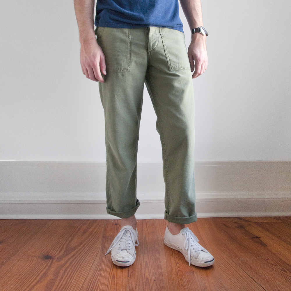 orSlow Fatigue Pants in Used Green