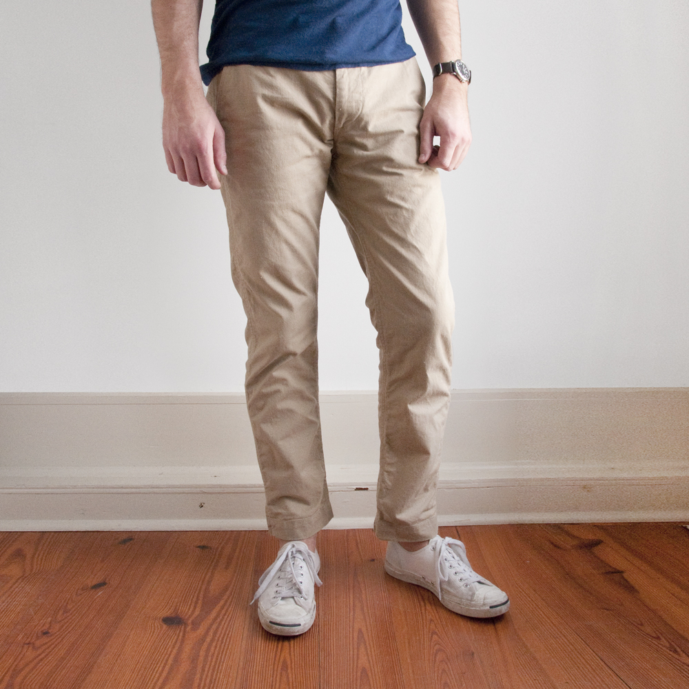 orSlow Slim Fit Army Trouser in Beige
