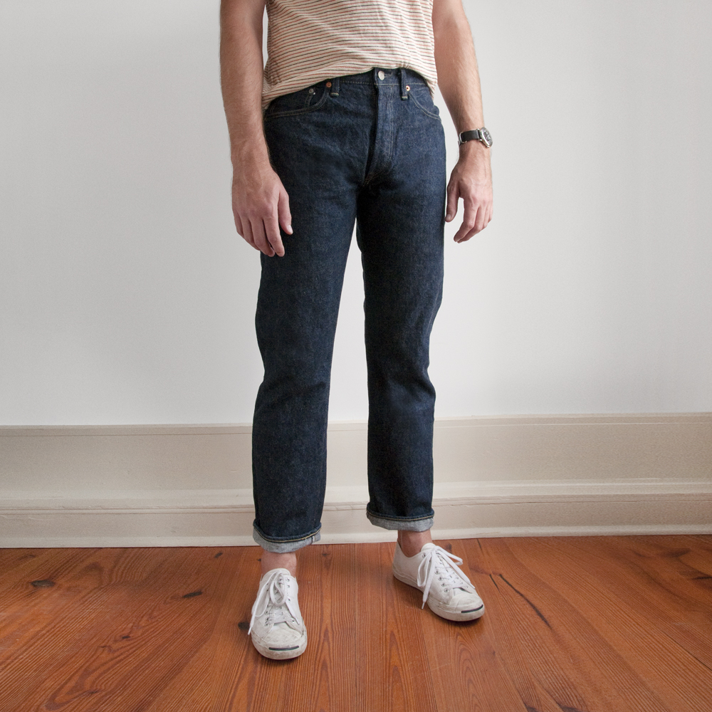 orslow denim button down army trousers japan selvedge (3)