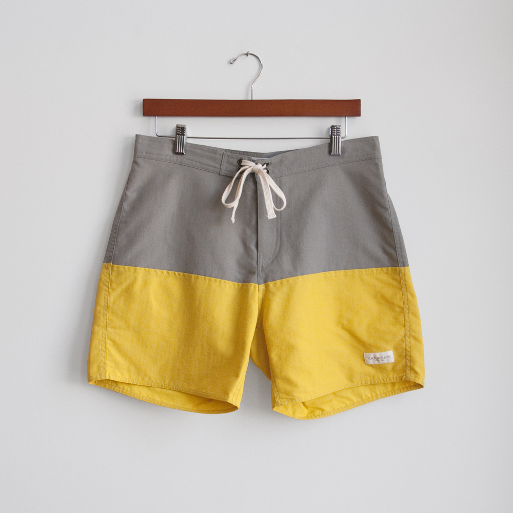 saturdays surf nyc board shorts swim suit trunks drawstring