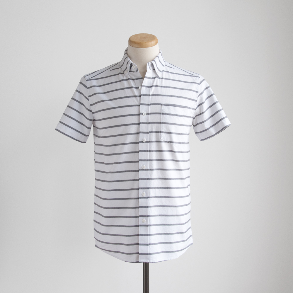saturdays surf nyc esquina oxford button down short sleeve shirt