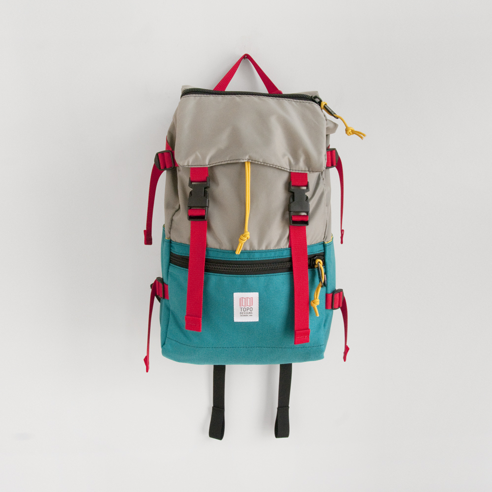 Topo Designs Rover Pack in Turquoise Silver
