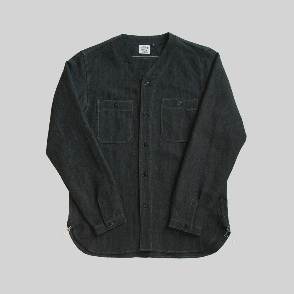 OrSlow No Collar Inner Shirt in Gray