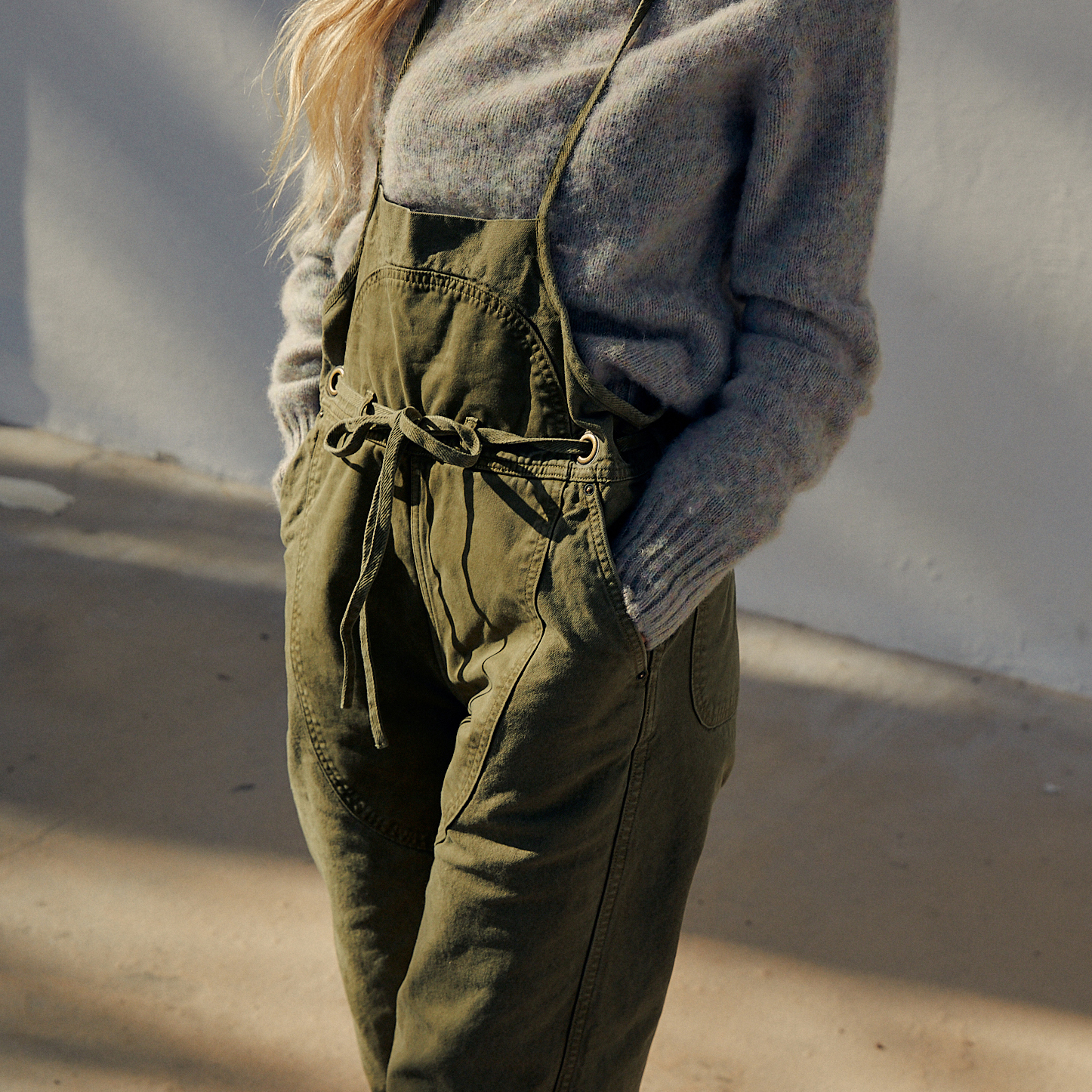 The Light Canvas Welder Overall by Kapital