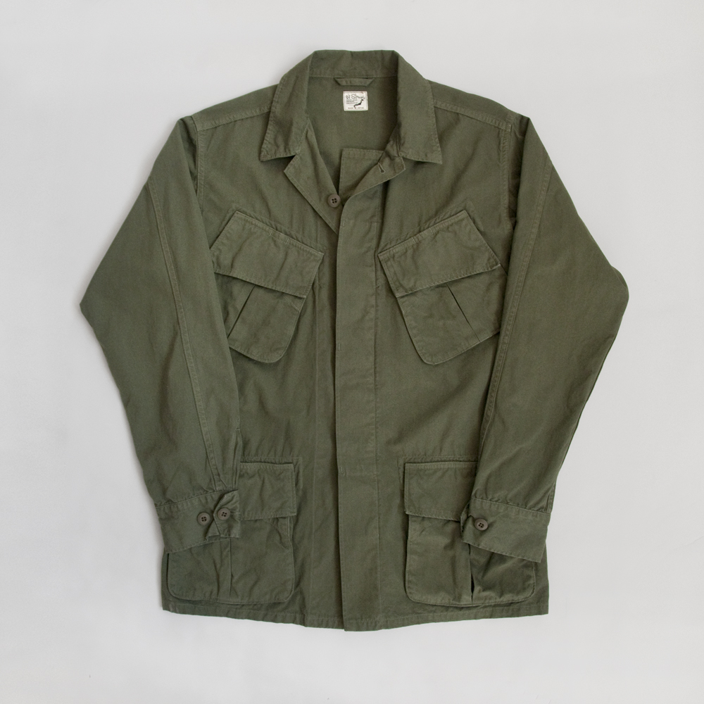 orSlow Army Jacket in Poplin Cotton Olive