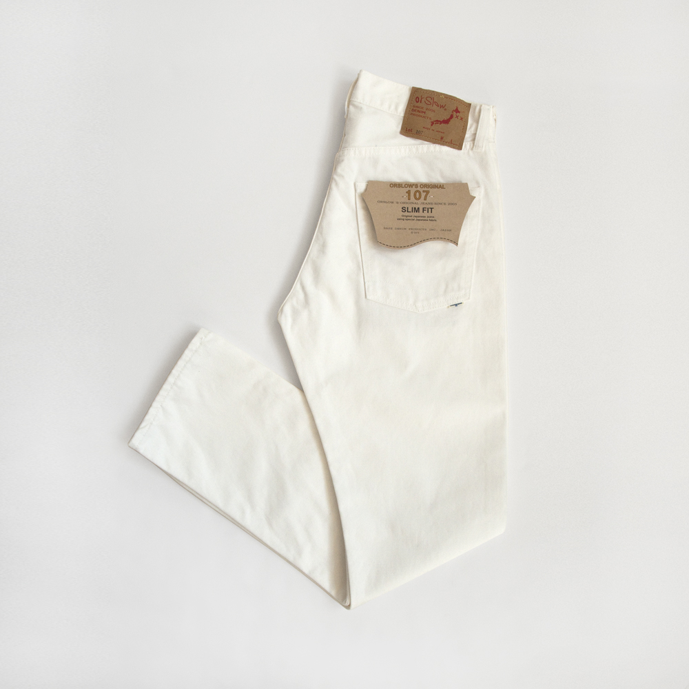 orSlow Ivy Fit Denim in White