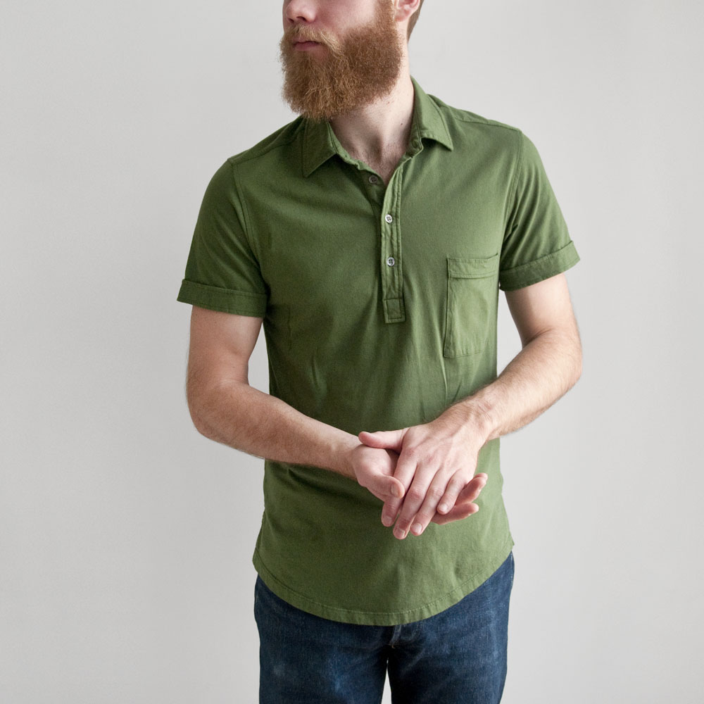 Barena Ruspa Cotton Polo in Olive