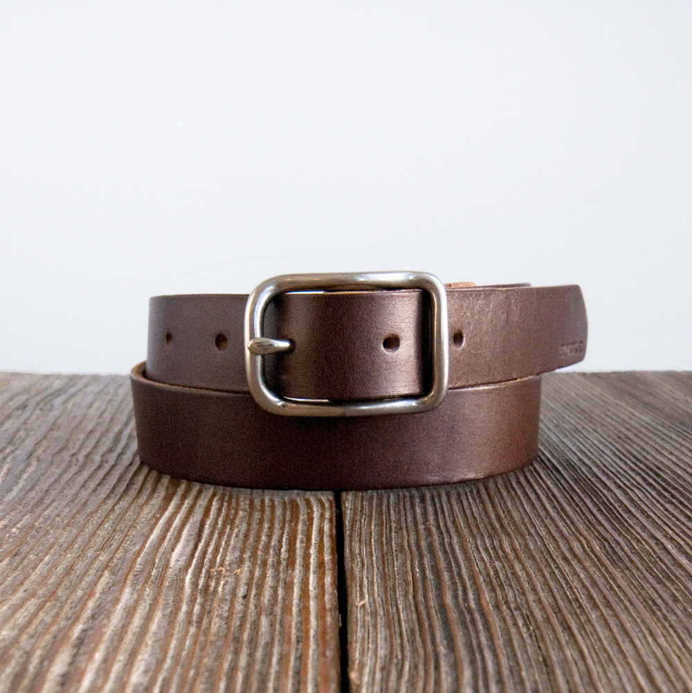 Billykirk Slim Center Bar Belt in Brown