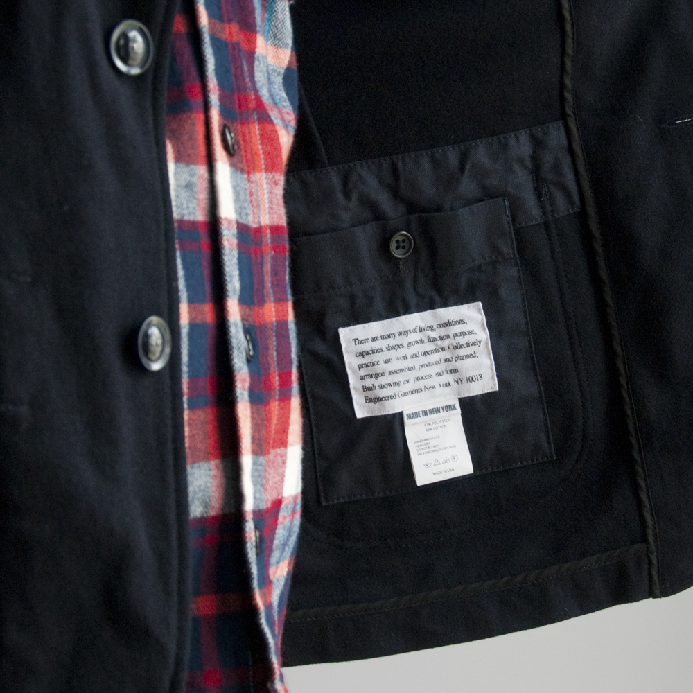 Engineered Garments Bedford Jacket 20oz Melton Wool in Dark Navy