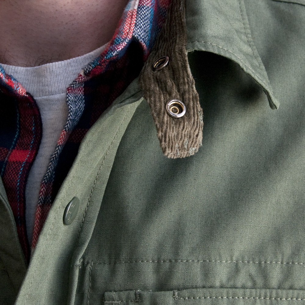 Engineered Garments CPO Shirt in Nyco Ripstop Olive