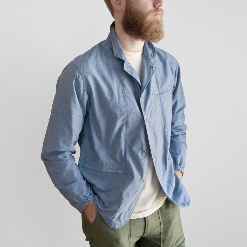 Engineered Garments Knockabout Jacket in Lt. Blue Activecloth