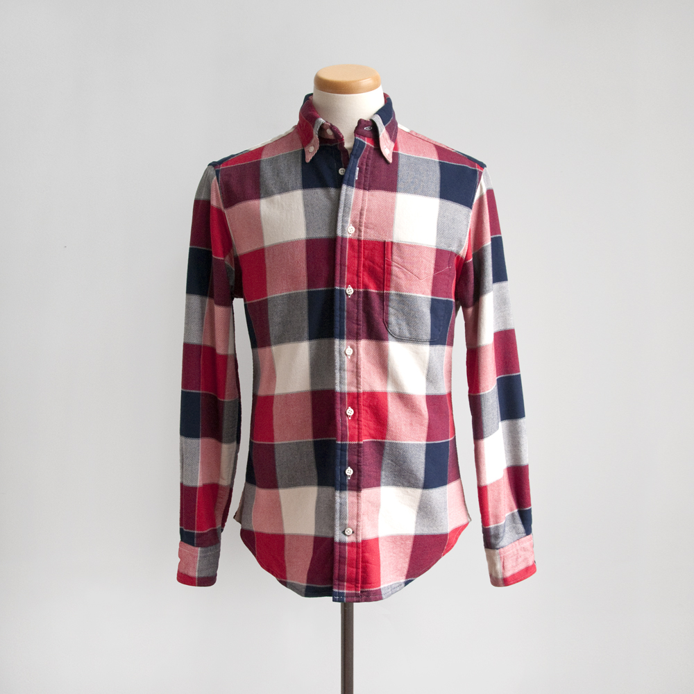 Gitman Brothers Doubel Face Twill Check in Red/Blue