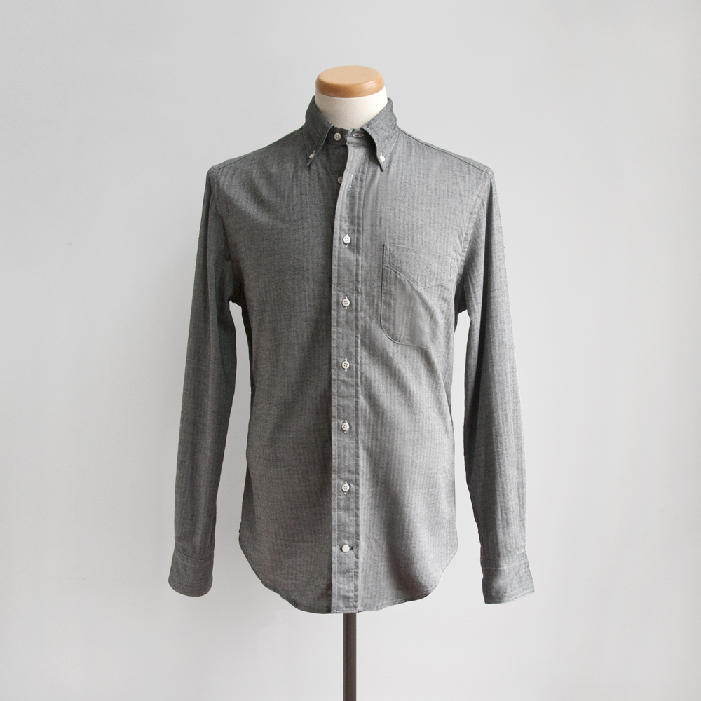 Gitman Brothers Mini-Bone Japanese Flannel in Charcoal