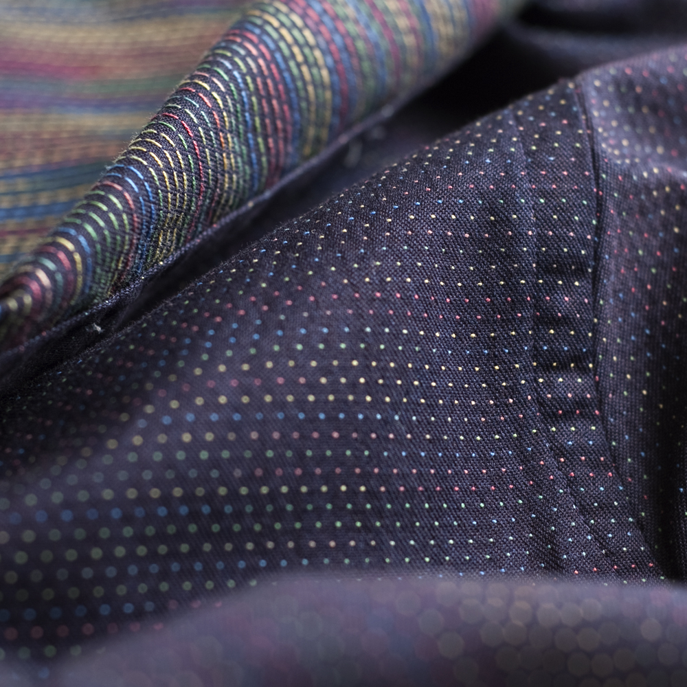 Gitman Brothers Multi-Colored Jacquard in Navy