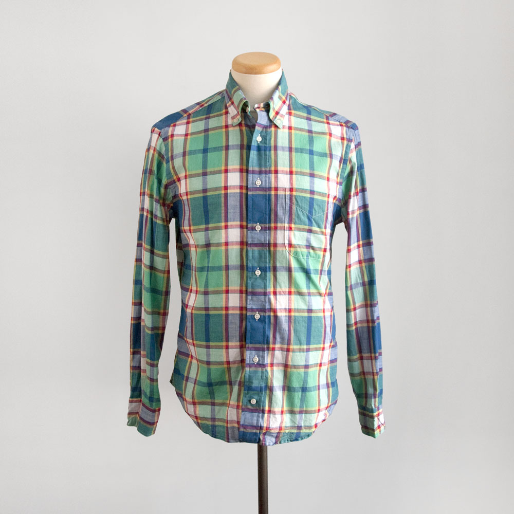 Gitman Brothers Vintage Archive Indian Madras in Green